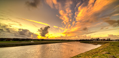 Cloud Escape. (Alex-de-Haas) Tags: 11mm d850 dutch hdr holland irix nederland nederlands netherlands nikon noordholland noordhollandschkanaal schoorldam avond beautiful beauty canal cloud clouds evening hemel kanaal landscape landschap longexposure lucht mooi skies sky sundown sunset water winter wolk wolken zonsondergang