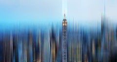 the Empire strikes back (marianna_a.) Tags: new york manhattan usa urban city architecture nyc skyline evening bluehour motion blur