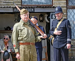 Haworth 1940's Weekend 2017 (grab a shot) Tags: canon eos 7dmarkii haworth haworth1940sweekend england uk yorkshire westyorkshire brontecountry reenactment livinghistory war worldwar2 ww2 wwii 1940s homefront oldfashioned vintage warweekend people outdoor man homeguard soldier unifor military 2017 police policeman uniform army male