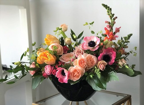 "Anemone, Parrot Tulip, & Snap Dragon Arrangement in Napa Planter • <a style=""font-size:0.8em;"" href=""http://www.flickr.com/photos/81396050@N06/40474723570/"" target=""_blank"">View on Flickr</a>"