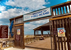 Tybee Pier - Tybee Island Georgia (Meridith112) Tags: tybee tybeeisland tybeepier ga georgia chathamcounty south pier wood bluesky sky spring 2018 april nikon nikon2485 nikond610 welcometotybeeisland