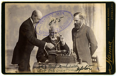 Sir George Grey, Prof Archibald and Mayor Upton (Archives New Zealand) Tags: archivesnewzealand archives photograph photography patent copyrights 1891 sirgeorgegrey
