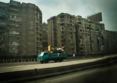 The Nile Hilton incident, 2017 (obsidiana10) Tags: egypt cairo road drive city buildings van