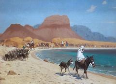 20180223_SLYNNLEE-130536 (Suni Lynn Lee) Tags: dublin ireland nationalmuseumofart art museum caravanonthenile jean leon gerome nile aqaba oil painting donkey caravan