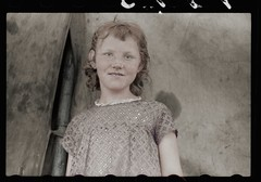 Migrant child Berrien County (rob.vndnB) Tags: the library congress colorization colorized vachon john photogragh photographs picture public old rvndnb american archives border looking light image glass negative negatives print year 1940 migrant child berrien county