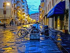 Blues in the night (Fabio Pratali LI) Tags: livorno bike blue night