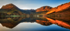 And everything under the sun (Pete Rowbottom, Wigan, UK) Tags: sunrise light mountains lake waterreflections dawn still tranquil buttermere lakedistrict mirror lonehouse cumbria england peterowbottom haystacks fleetwithpike pines warmth sunlight red orange honister nikond750 panorama thelakes earlymorning goldenlight trees outdoors nature beauty peaceful calm dramatic crazy