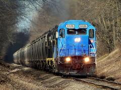 Indiana Northeastern grain train near South Milford Indiana (Matt Ditton) Tags: indiana northeastern train shortline