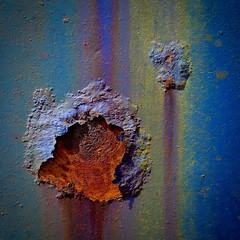 Abstract (StephenReed) Tags: abstract art abstractart metal rust paint colorschippedpaint blister macro nikond3300 stephenreed