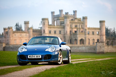 Porsche 996 Carrera 4 S Convertible, Lowther Castle, Penrith, Cumbria (TomScottPhoto) Tags: 911 porsche carrera 4s 4 automotive penrith cumbria lowthercastle lowther sunset convertible 996 turbo castle architecture lappis blue 2004 s drop top cabriolet strasse leeds