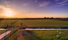 The disappearance of a star below the horizon. (Alex-de-Haas) Tags: oogvoornoordholland thuystenuwendore 24mm ci dji dutch eenigenburg fc6310 hdr holland huistenuwendoorn krabbendam nederland nederlands netherlands noordholland phantom phantom4 phantom4pro aerial aerialphotography cirrus cloud clouds drone goldenhour landscape landschap lucht meadows polder skies sky sundown sunset weilanden winter wolk wolken zonsondergang sintmaarten nl
