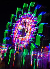 Abstract Ferris Wheel (vanessa_macdonald) Tags: ferriswheel carnival rides nightphotography westcoastamusements themepark fair festival longexposure night lights esquimalt abstractlights abstract