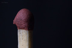 Macro Mondays - Low Key (Normann Photography) Tags: 202018 hmm mm macromondays blackbackground giveusakiss lowkey matchstick pareidolia
