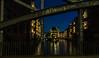 Wasserschloss Hamburg Speicherstadt (VintageLensLover) Tags: wasserschloss hamburg speicherstadt nachtaufnahme deutschland brücke sonya7ii fe24105f4
