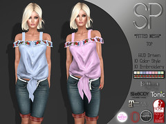 .:SP:. Irene Top (.:Sofi Piaggio:.) Tags: tshirt tmp tank top tonic standard sl secondlife slink sexi second sp physique piaggio embrodery