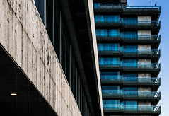 Balconies (Bence Boros) Tags: sony alpha a77m2 a77ii 35mm f18 classic focallength building architecture windows balcony precise sharp lamp concrete blue sky minimal hotel budapest hungary