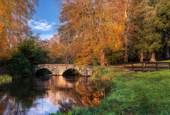 Doneraile (Phillip Kerins) Tags: autumn donerailepark bridge stream water reflection trees