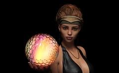 Dewi with magic sphere (foto_morgana) Tags: 3drendering 3dcharacters 3dhumanmodels 3dmodeling computergeneratedimagery unbiasedgprendering nvidiairayengine render rendering 3dimensionalart dazstudio50 3dsoftware photorealisticimagery on1photoraw2018 cgi imagery digitalart illusions personality character physiognomy portrait portraiture headshot virtualart virtualworld virtualwoman caucasianwoman girl cutegirl prettygirl topmodel supermodel face lady stunningbeauty sultrygirl gorgeousgirl mysterybeauty stare eyelevelview attractivegirl sensual brunette hairstyle sultryeyes photoshoot amazingmodel talent mannequin posing necklace lowlightphotography magicsphere hairband glow