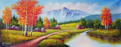 Eden, Art Painting / Oil Painting For Sale - Arteet™ (arteetgallery) Tags: arteet oil paintings canvas art artwork fine arts landscape sky river tree water park forest mountain lake travel scenery clouds summer trees grass season mountains sunny outdoors reflection scenic cloud tourism outdoor scene scandinavia environment natural range field calm waterfall autumn national spring meadow rock snow countryside horizon sun valley stone rocks hill landscapes surreal fantasy lakes rivers lime blue paint