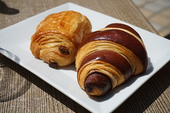 Pain au chocolate & croissant bicolor (Like_the_Grand_Canyon) Tags: patisserie french food essen meal pastry