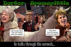Doctor Spewspittle and his Two-Headed Tory Abomination (Cui Bono) Tags: rupert murdoch theresa may nicola sturgeon puppet master oligarchy fake doctor doolittle janus monster conservative tory scottish national party snp wingman election scotland england dupe united kingdom britain news lickspittle sycophant sycophantic yellow press corrupt controlled bought mouthpiece
