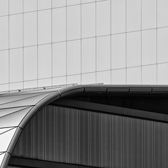 The Curve (Leipzig_trifft_Wien) Tags: leipzig sachsen deutschland de architecture modern contemporary library lines curves geometry black white monochrome grey outside blackwhite bnw buildings noiretblanc