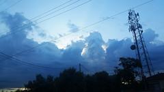 High clouds (radargeek) Tags: ca california driving may 2018 manteca stockton sky clouds cellphonetower powerlines