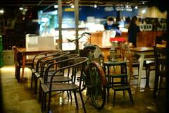2205/1907 (june1777) Tags: snap street seoul night light cafe bokeh sony a7ii canon ef 50mm f10 5000 clear
