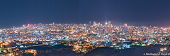 Beirut Panorama... (Mohamed Haykal) Tags: aaraiya mountlebanongovernorate lebanon lb beirut panorama nightshot night mohamad mohamed haykal hasselblad x1d xcd 120 mediterranean sea downtown airport