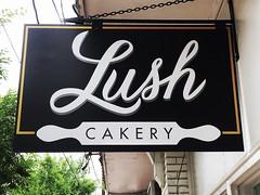 LUSH CAKERY Sign | Church Street NW | Marietta, GA (steveartist) Tags: storesigns hangingsigns lushcakerysign mariettaga businesssigns bakery iphonese snapseed stevefrenkel
