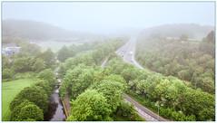 A Misty Start (Processed) (Father Pie) Tags: mist dji djimavicpro drone aerial elland canal trees