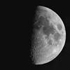 Late Spring Quarter Moon (clarkcg photography) Tags: blackandwhite blackwhite bw moon lunar luna craters sea mystery orb coldhearted romance love