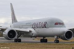 Qatar Airways 787-8 A7-BCR (birrlad) Tags: edinburgh edi international airport scotland uk aircraft aviation airplane airplanes airline airliner airlines airways arriving arrival taxi taxiway landed runway qatar qatari boeing b787 b788 787 7878 dreamliner a7bcr