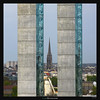 Three Towers (Ilan Shacham) Tags: landscape view scenic minimalist tower bridge blue cathedral symmetry lines shape form architecture fineart fineartphotography square bordeaux france