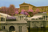 art museum and waterworks closeup (andrewantipin) Tags: infrared artmuseum philadelphia waterworks architecture fqlsecolor abstract