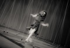 Nowhere and everywhere at the same time No2 (eric_marchand_35) Tags: rennes rennesmetropole leschampslibres williamforsythe nowhereandeverywhereatthesametimeno2 bretagne breizh danse pendule bw installation artcontemporain contemporaryart motionblur motion mouvement nb noiretblanc blackandwhite olympusomdem10markii poselongue longexposure