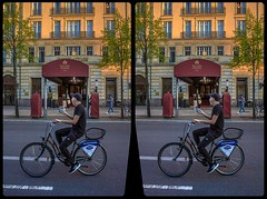 Passing by the luxury 3-D / CrossEye / Stereoscopy / HDRaw (Stereotron) Tags: streetphotography urban berlin spreeathen mitte metropole hauptstadt capital metropolis brandenburg city bicycle adlon hotel europe germany deutschland crosseye crossview xview pair freeview sidebyside sbs kreuzblick 3d 3dphoto 3dstereo 3rddimension spatial stereo stereo3d stereophoto stereophotography stereoscopic stereoscopy stereotron threedimensional stereoview stereophotomaker stereophotograph 3dpicture 3dimage twin canon eos 550d yongnuo radio transmitter remote control synchron kitlens 1855mm tonemapping hdr hdri raw bluehour availablelight