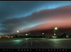 OKC Morning Shelf Cloud (Matt Granz Photography) Tags: oklahoma oklahomacity morning dawn sunrise storm arcus squallline stormfront shelfcloud thunderstorm severeweather weather sky skies cloud clouds parkinglot lampposts nature city stormy nikond7100 tokina1115mm mattgranzphotography stormchasing chasing stormchaser chaser spring june