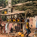 Benin roadside - fuel and a haircut