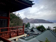 Shrine in Nikko (kimbar/Thanks for 3.5 million views!) Tags: nikko tochigi japan shrine rooftops mountains lake