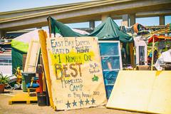 East Bay Express Rated #1 Best Homeless Camp in Bay Area (Thomas Hawk) Tags: america california eastbay oakland usa unitedstates unitedstatesofamerica westcoast westoakland homeless homelesscamp homelessencampment us fav10 fav25 fav50