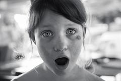 Zselyke (GrandJr) Tags: nikon grandjr d3 portrait kid fun funny face freckle grimace shooting actress hungary commercials 18 50mm nikkor tondach skin girl