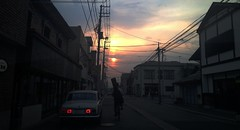 Music Lesson 1.85 (AAcerbo) Tags: japan sunset streetscene aizuwakamatsu student iphone iphoneography