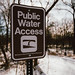 Public Water Access Sign on the Cannon River, Minnesota