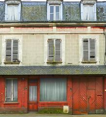 Red frontage (JLM62380) Tags: frontage house old vintage sad france triste décrépitude volets pigeons red shutters normandy rouge