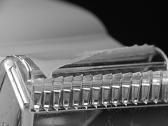 Tape dispenser (Quik Snapshot) Tags: tapedispenser macro macromondays macroscopic hmm hx200v jagged sharp plastic tape blackwhite bw bokeh dof dschx200v dcr250 raynox closeup compelling interesting nocrop noprocessing nophotoshop sticky detail