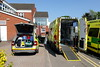 Unloading.. (Mike-Lee) Tags: httpswwwchesterfieldroyalnhsuk hospital ae may2018 ambulance rrv skoda sunny hot 999 eastmidlandsambulanceservice eastmidlands yas skodascout
