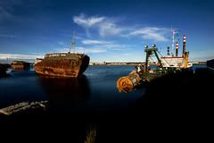 P G 21_010844 01 S_Y (Darkly B) Tags: darklyb vnikolaev vomvgaz orenburggazprom lostship abandonedship rust rusty docks industiallandscape decay abandoned abandonedvessel abandonedvesselsseries