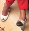 Cleavage & Peeping Toes (Tania - wife (Claudio - husband/photographer)) Tags: high heels shoes mature sexy latina kapikua1 female woman wife amateur mexico milf fetish feet toes wedges opentoe peeptoe slingback pants tacones altos zapatos madura femenina mujer esposa fetiche pies dedos cuñas despuntado pantalones