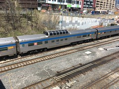 "VIA Rail ""The Canadian"" late departure May 9/2018 (Stephen Gardiner) Tags: toronto ontario 2018 trains railways thecanadian viarailcanada stainless streamliner apple iphone iphonese"